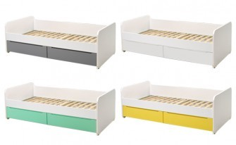 Bed with drawers